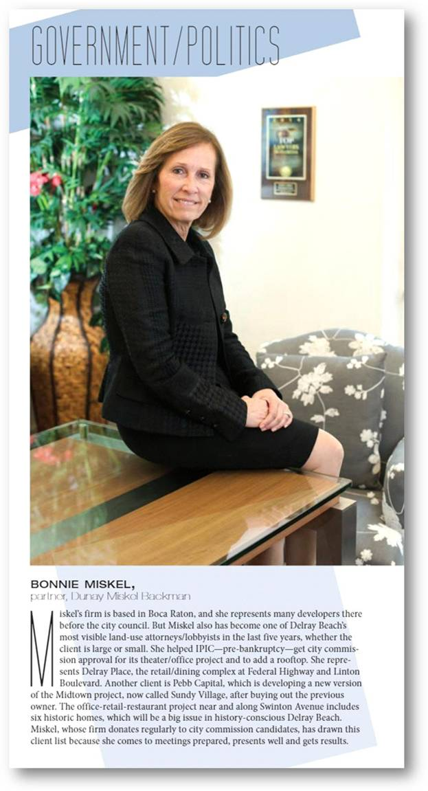 Bonnie Miskel featured in Delray Magazine Article